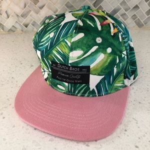 Dutch Bros Good Vibes Tropical Jungle Hat Baseball Hat Snapback One Size
